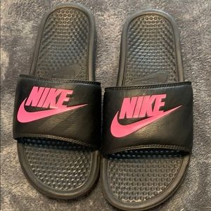 Nike slide on sandals